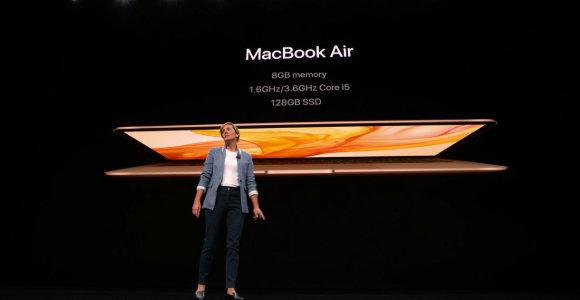 """""""Apple"""" pristatė naujų kompiuterių gamą"""