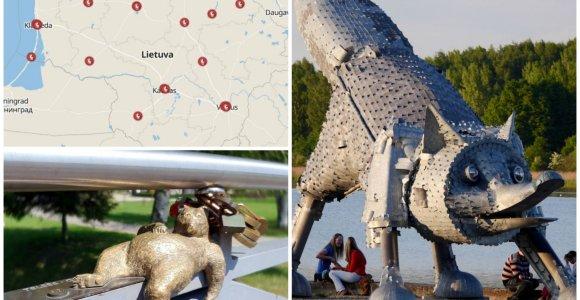 20 įdomiausių gyvūnų skulptūrų Lietuvoje
