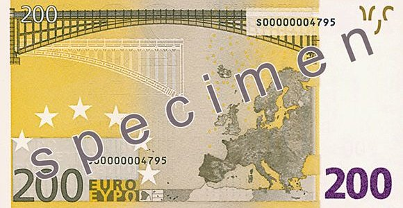 Druskininkų bankomate – 200 eurų banknoto klastotė