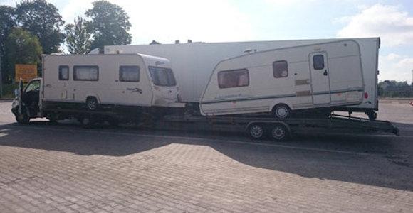 Į Lietuvą atgabentas prieš trejus metus Anglijoje vogtas namelis ant ratų