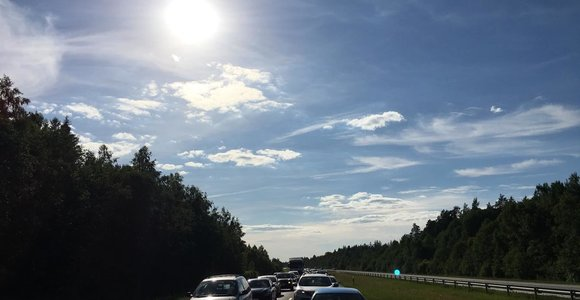 Spūstis kelyje Klaipėda–Kaunas
