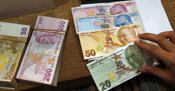 Turkijos Pinigas - Euro ir Turkijos liros valiutų skaičiuoklė