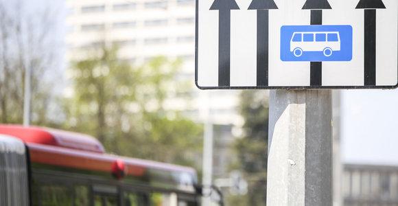 Vilniuje šiemet ketinama įrengti daugiau autobusų juostų