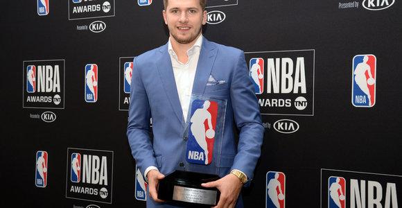 Geriausias naujokas: Luka Dončičiaus šypsena NBA šventėje