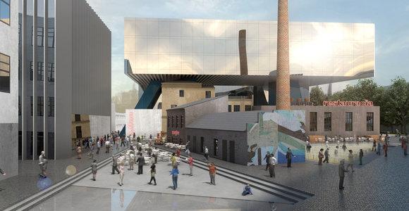 """Architektų idėjos būsimam kompleksui """"Spartos"""" vietoje"""