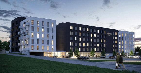 """Prie """"Siemens"""" arenos sostinėje planuojama statyti viešbutį ir butus"""