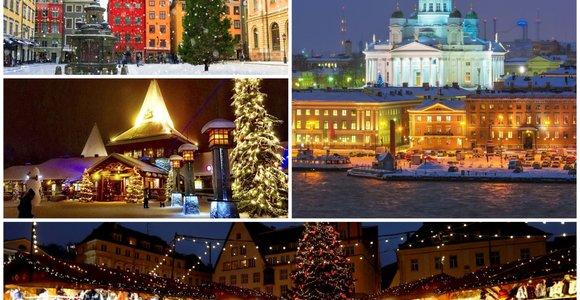 4 kalėdiškiausi Skandinavijos miestai: mugės, lauko čiuožyklos, pirtys ir gliogas iš dangaus krentant snaigėms