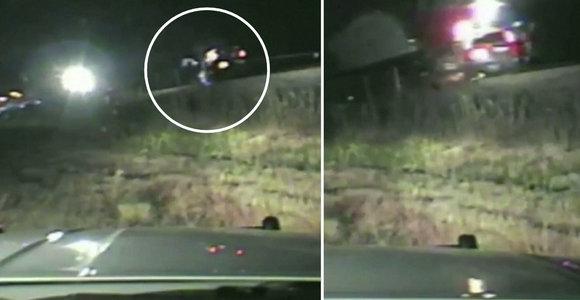 Per plauką nuo tragedijos: didvyriškas pareigūno poelgis išgelbėjo vairuotoją nuo pražūtingo traukinio