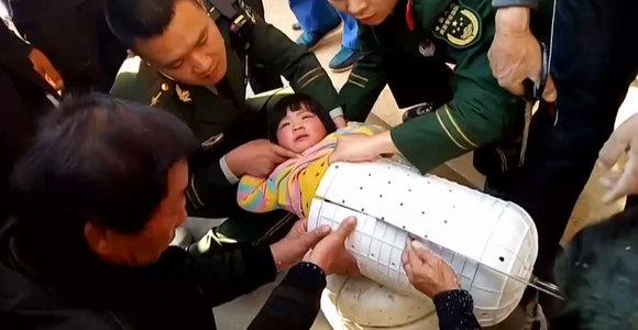 Skalbyklėje įstrigusią mergaitę teko vaduoti pjūklo pagalba