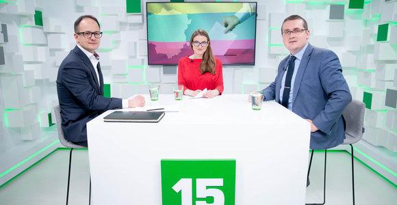 15min studijoje – G.Nausėdos ir S.Skvernelio rinkimų štabų atstovai