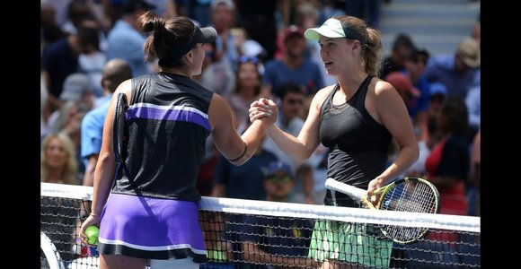 """""""US Open"""": Caroline Wozniacki prieš Bianca Andreescu"""