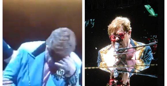 Eltonas Johnas dėl sveikatos problemų turėjo nutraukti koncertą: nuo scenos lipo netramdydamas ašarų