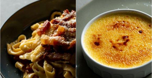 """Pasilepinti savaitgalį – naminiai makaronai su """"Carbonara"""" padažu ir nuostabusis """"Crème brûlée"""""""