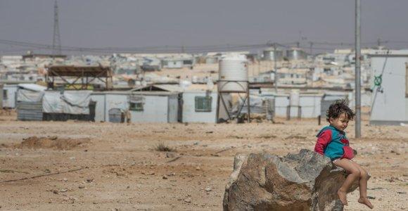 Sirijos pabėgėlių stovykla Jordanijoje: gyvenimas konteineriuose ir vaikai, sapnuojantys košmarus