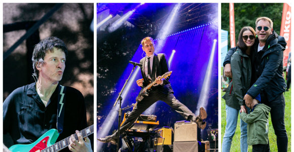 "Charizmatiškieji ""Franz Ferdinand"" istoriniu koncertu sudrebino Kairėnų sodą"