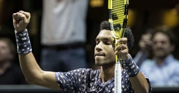 Felixas Auger-Aliassime tapo jauniausiu ATP turnyro Roterdame finalininku