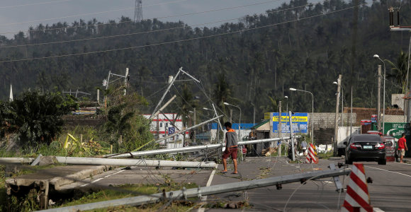 Per taifūną Kammuri Filipinuose žuvusių žmonių skaičius padidėjo iki 13