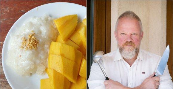 """Vytaro Radzevičiaus """"Pasaulio puodai"""": lipnių ryžių ir mango desertas iš Tailando"""
