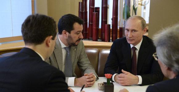 Skandalas dėl rusų pinigų atkreipė dėmesį, bet Kremlius Italijoje – nedidelė problema