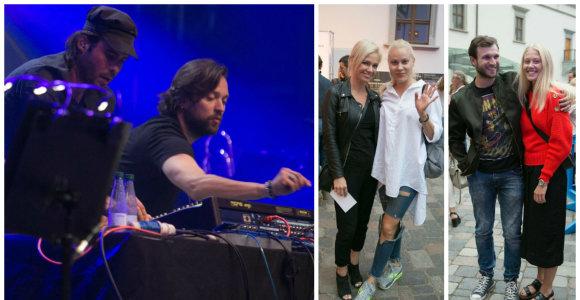 """Leono Somovo ir švedų grupės """"Highly Sedated"""" vakarėlis po atviru dangumi priviliojo ir garsenybes"""