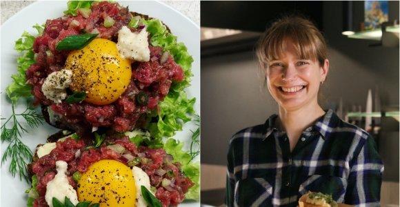 """""""Bulvių košės"""" receptas: sumuštinis su jautienos tartaru """"Smørrebrød"""""""