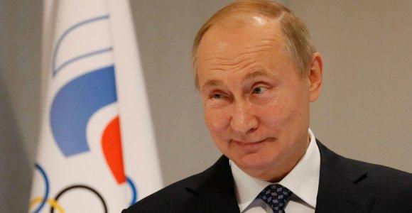 V.Putinas: WADA sprendimas dėl Rusijos – politiškai motyvuotas