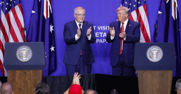D.Trumpas prašė Australijos padėti diskredituoti tyrimą dėl Rusijos kišimosi į rinkimus