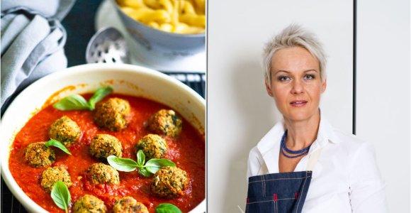 Nidos receptas: cukinijų maltinukai pomidorų padaže