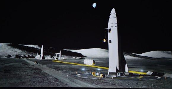 E.Muskas: planas statyti Mėnulio bazę turi vieną milžinišką trūkumą