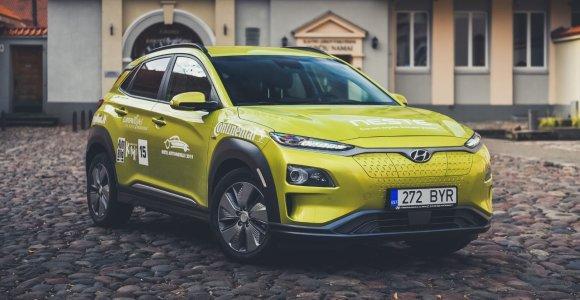 """Balsuokite ir išrinkite """"Tautos automobilį"""": elektrinė """"Hyundai Kona"""", galinti nuvažiuoti 470 km viena įkrova"""