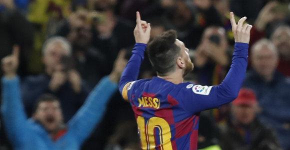 Ispanijos čempionate – trys Lionelio Messi įvarčiai bei abiejų lyderių pergalės