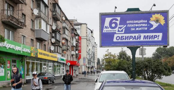 Apklausa: į Ukrainos parlamentą gali patekti septynios partijos