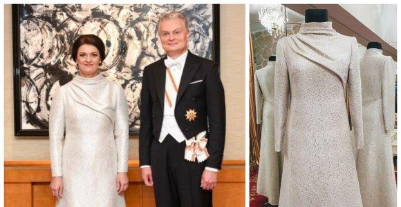 Paaiškėjo, kas kūrė vieną iš Dianos Nausėdienės suknelių vizito Japonijoje metu