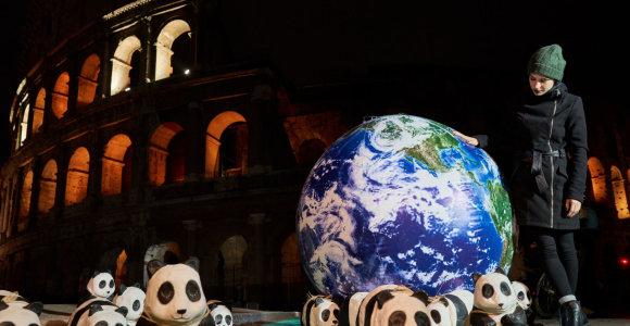 Žemės valanda siekta atkreipti dėmesį į klimato pokyčius