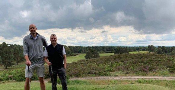 Šarūno Jasikevičiaus vasara – golfo malonumai su Žydrūnu Ilgausku