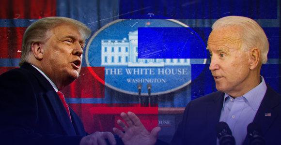 Ką D.Trumpo ar J.Bideno laimėjimas reikštų Lietuvai?
