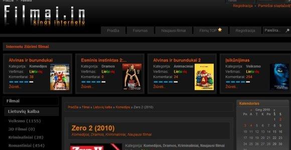 Užblokuotos nelegaliai kūrinius parsisiųsti leidusios svetainės filmai.in ir torrent.ai