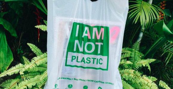 Balio naujiena: suyrantys maišeliai, kuriuos galima tirpinti, deginti, valgyti ir net gerti