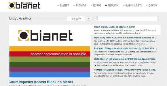"""Turkija uždarė nepriklausomą naujienų svetainę """"Bianet"""""""