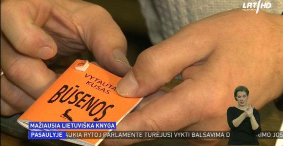 Menininkas sukūrė mažiausią pasaulyje knygą lietuvių kalba