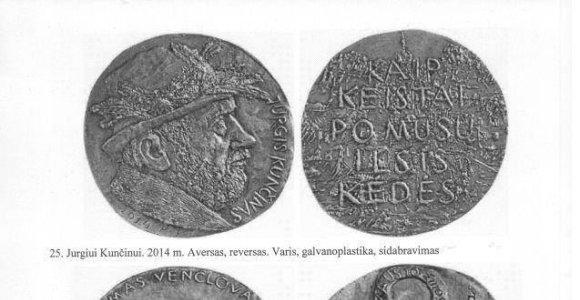 Iš Petro Repšio dirbtuvės pavogti jo sukurti medaliai ir plaketės