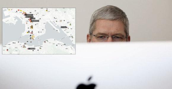 """""""Apple"""" vadovas paaiškino, kodėl pašalino Honkongo protestuotojams svarbią programėlę"""