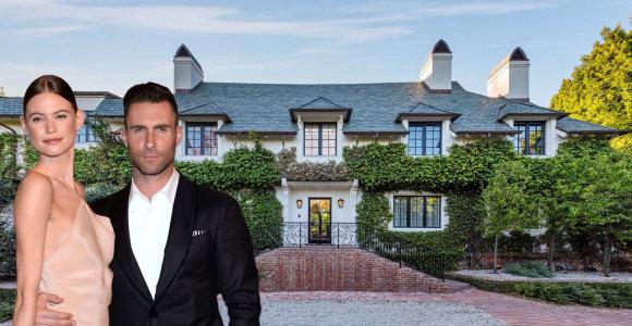 Adamas Levine'as su žmona grįžta į Los Andželą: parduoda įspūdingus namus už 47,5 mln. JAV dolerių