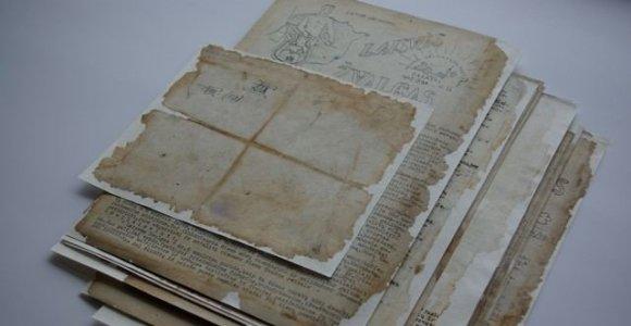 Restauruoti Tauro apygardos partizanų dokumentai