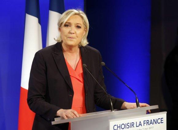 """""""Scanpix""""/AP nuotr./Marine Le Pen pripažino pralaimėjimą"""
