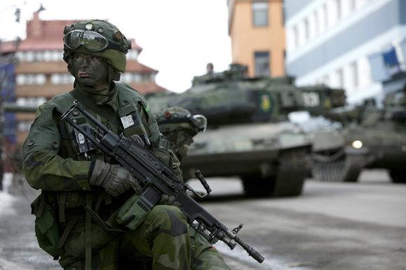 Švedijos ginkluotųjų pajėgų nuotr./Švedijos karys