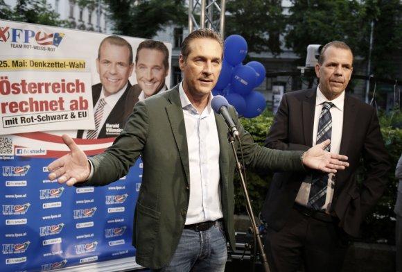 """""""Scanpix"""" nuotr./Austrijos laisvės partijos lyderis Heinzas-Christianas Strache"""