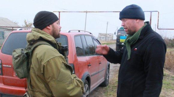 Dovydo Pancerovo nuotr./Jonas Ohmanas su ukrainiečiu žvalgu