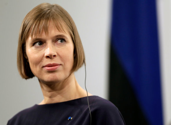 """Reuters""/""Scanpix"" nuotr./Estijos prezidentė Kersti Kaljulaid"