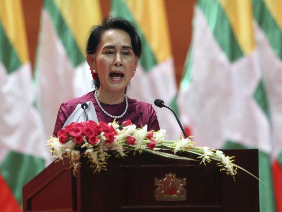 """""""Scanpix""""/AP nuotr./Aung San Suu Kyi"""